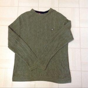 Chaps Men's Sage Green Cotton Sweater Top Large